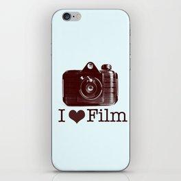 I ♥ Film (Maroon/Aqua) iPhone Skin