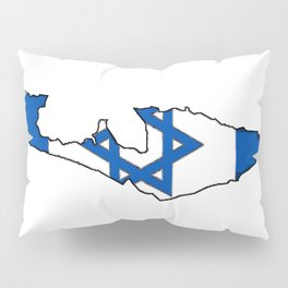 Israel Map with Israeli Flag Pillow Sham