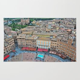 Siena, Italy - from above II Rug