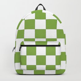 color of the year 2017  Greenery |checkerboard Backpack