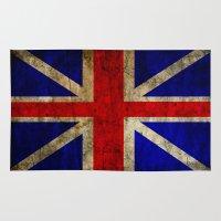 british flag Area & Throw Rugs featuring British Flag by Jason Michael