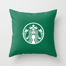 Starbucks Throw Pillow