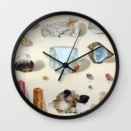 The Mineral Kingdom by Dr. Reinhard Brauns, 1903. Germany. Beautiful Gems Mineral Jewels Wall Clock