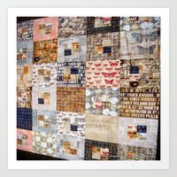 quilt Art Prints featuring Quilt by Shenreice