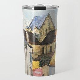 Normandy, France: Saint Nicolas Church in fall Travel Mug