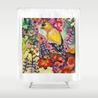 camouflage Shower Curtains featuring Camouflage by Liz Thoresen