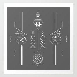 Mystical signs  Art Print