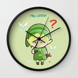 Hey Listen! Cute Link From Zelda Kawaii :) Wall Clock
