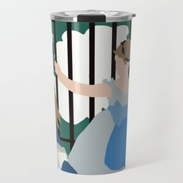 Flat Graphic: Manet- Le Chemin de fer Travel Mug