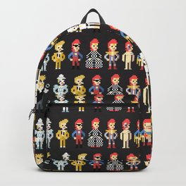 Bowie pixel characters Backpack