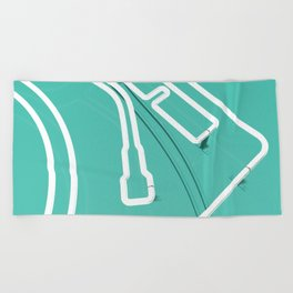 Neon Turntable 3 - 3D Art Beach Towel