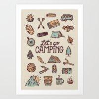 Lets Go Camping Art Print