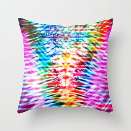Crumpled Rainbow V Tie Dye Throw Pillow