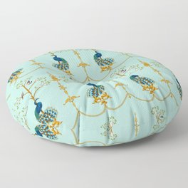 Rococo Peacocks Floor Pillow