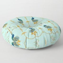 Rococo Peacocks Floor Pillow