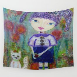 Viola & Lipstick - Whimsies of Light Children Series Wall Tapestry