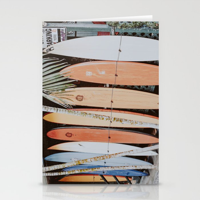 lets surf ii Stationery Cards