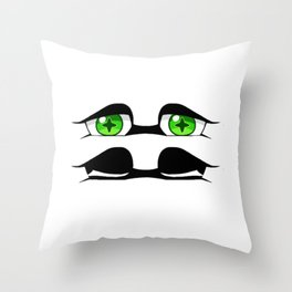 Marie eyes Throw Pillow