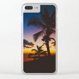 Palm Spring Clear iPhone Case