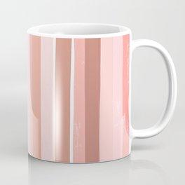 Striped minimal abstract painting modern color pinks metallics decor and art Coffee Mug