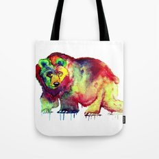 Coloured Bear Tote Bag