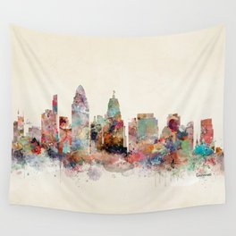 Cincinnati ohio skyline Wall Tapestry
