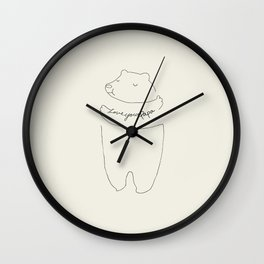 PICTURES FOR PAPA_BY CYNTHIA BACALL Wall Clock