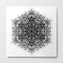 Transcendental Metatron's Cube Metal Print