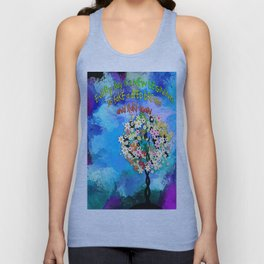 Everyday is a new begining Unisex Tank Top