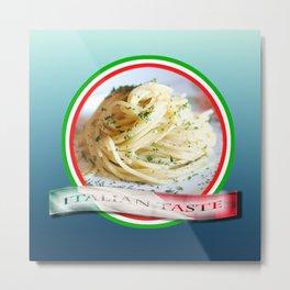 Food. Rolled spaghetti. Italian taste. Metal Print