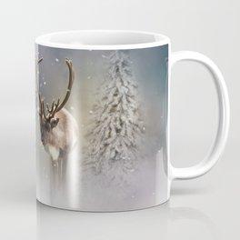 Santa Claus Reindeer in the snow Coffee Mug