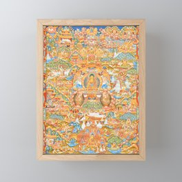 Mandala Buddhist 14 Framed Mini Art Print