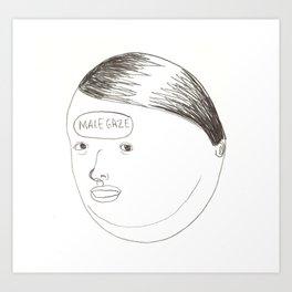 Male Gaze Art Print