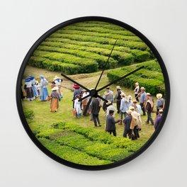 Tea gardens Wall Clock