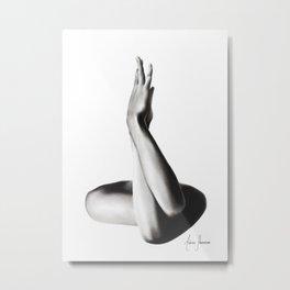 Nude Woman Charcoal Study 69 Metal Print