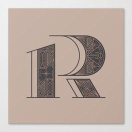 Typography series #R Canvas Print