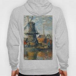"Claude Monet ""The Windmill, Amsterdam"", 1871 Hoody"