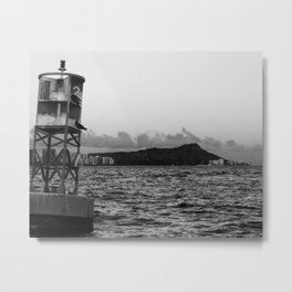 Diamond Head from Honolulu channel Metal Print