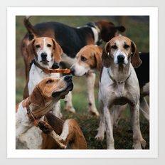 Foxhounds Art Print