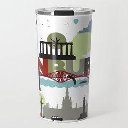 Edinburgh landmarks & monuments  Travel Mug