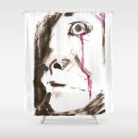 kill la kill Shower Curtains featuring kill by cistus skamberji