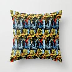 RETROBOT II Throw Pillow