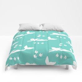 Mermaid Pattern Sea Green Comforters