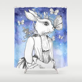 Magic Fairy Incantations Spark Rabbit Transformations Shower Curtain