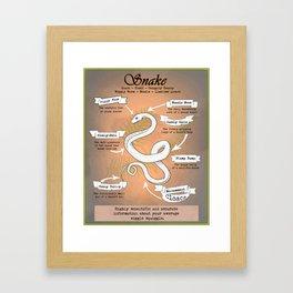 Snake Science Framed Art Print