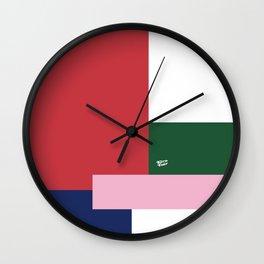 POP ART RED BLUE PINK AND GREEN #minimal #art #design #kirovair #buyart #decor #home Wall Clock