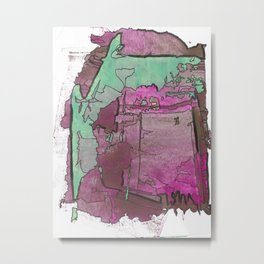 What Do I Choose Abstract Modern Painting Metal Print