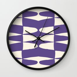Zaha Ultra Violet Wall Clock