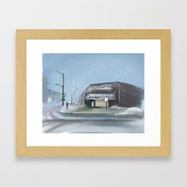 Winter Street Framed Art Print