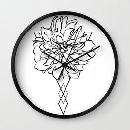 POESY Flower Black Wall Clock